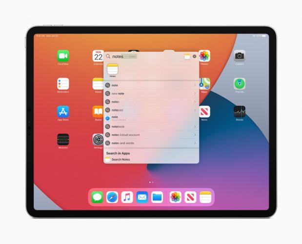 iPadOS14Search